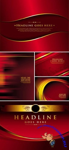 Stock vector - Red Luxury Abstract Backgrounds | Красный абстрактный люкс фон