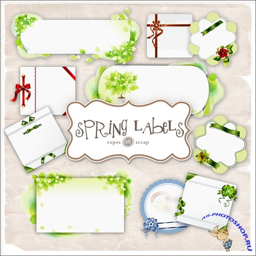 Scrap-kit - Spring Lables #3