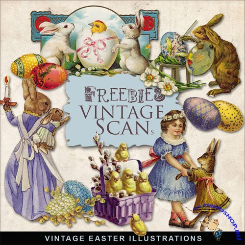 Scrap-kit - Vintage Easter Illustrations #12