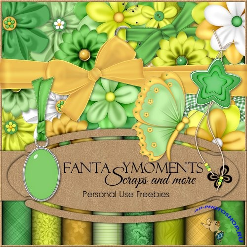 Скрап-набор - Fantasy moments: Green Paradise
