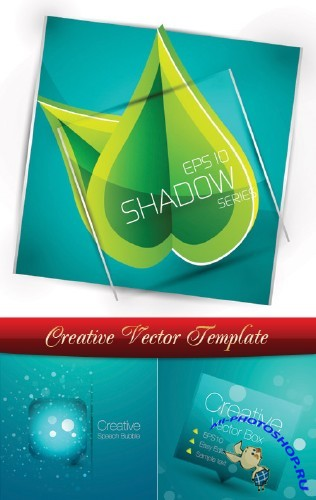 Creative vector template | Креативный шаблон в векторе