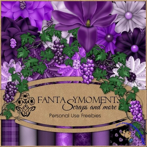 Скрап-набор - Fantasy moments: Misterious Mauve