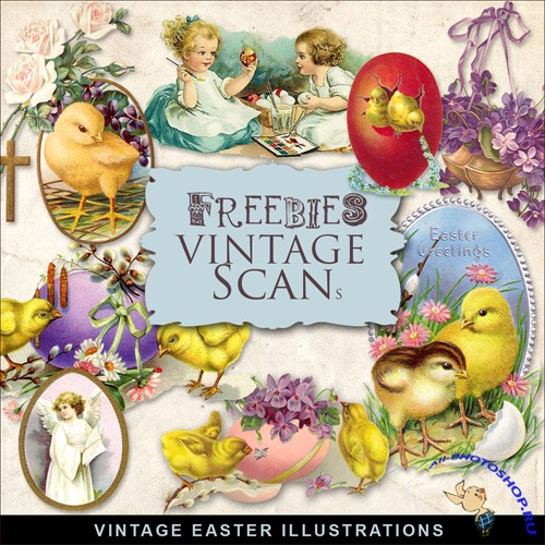 Scrap-kit - Vintage Easter Illustrations #14
