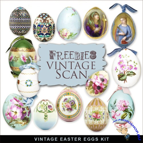 Scrap-kit - Vintage Easter Eggs