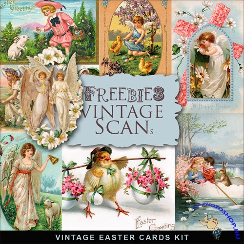 Scrap-kit - Vintage Easter Cards #6