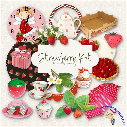 Scrap-kit - Strawberry Elements
