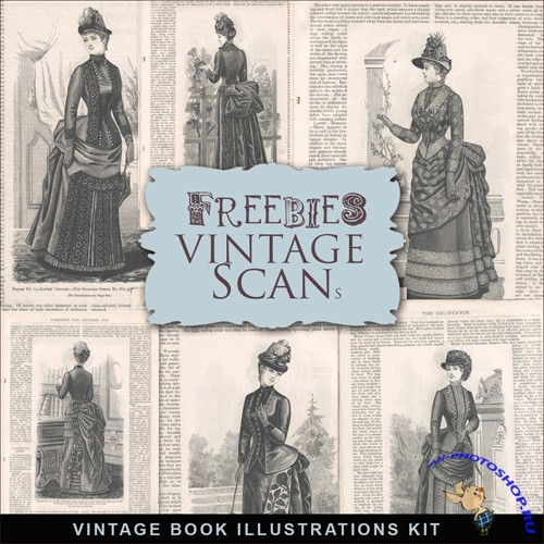 Scrap-kit - Vintage Fashion Illustrations