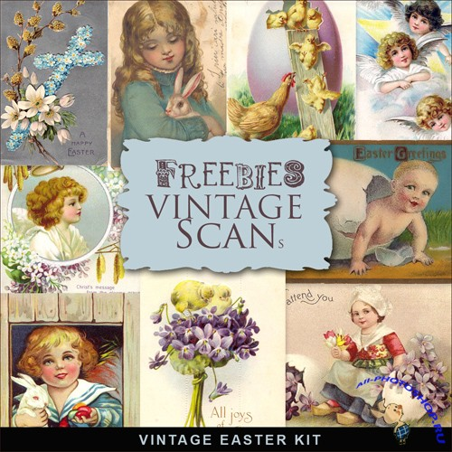 Scrap-kit - Vintage Easter Cards #7