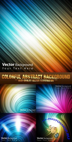 Stock Vector - Colorful Abstract Background | Цветной абстрактный фон