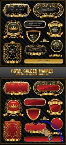 Stock Vector - Royal Golden Frames | Золотые рамки