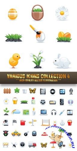 Stock Vector - Various Icons Collection 4 | Коллекция иконок 4