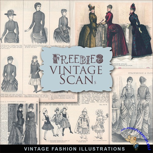 Scrap-kit - Vintage Fashion Illustrations #4