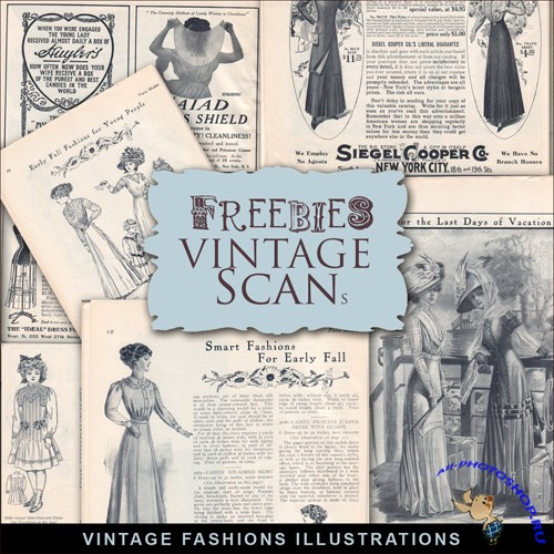 Scrap-kit - Vintage Fashion Illustrations #3