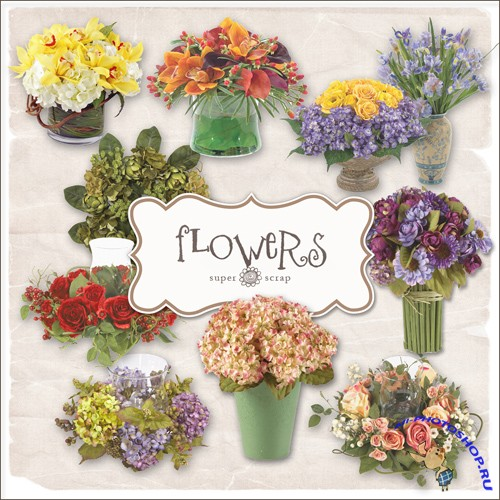 Scrap-kit - Flowers Arrangement III