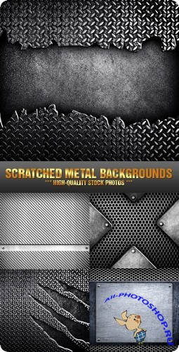 Stock Photo - Scratched Metal Backgrounds | Фон поцарапанный металл
