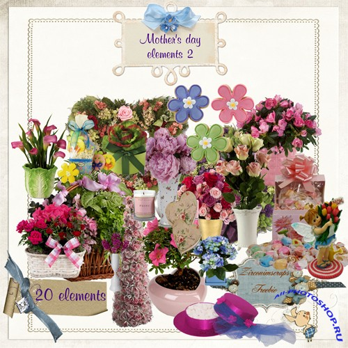 Scrap-kit - Mother's day elements 2