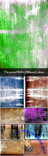 The painted Wall in Different Colours