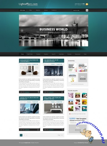 DreamTemplate Web Blog Corporate - Light Effects
