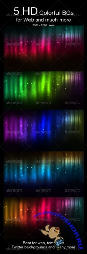 5 Space Backgrounds - GraphicRiver