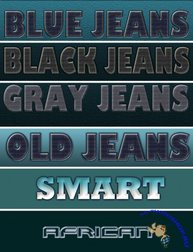 Jeans Text Effects for Photoshop