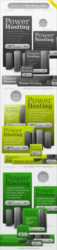 Power Hosting Ads - GraphicRiver
