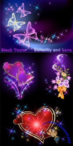 Stock Vector - Butterfly and Love