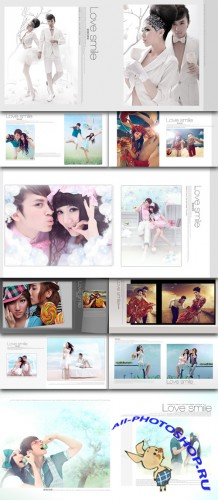 Photo templates love couple smiling photo