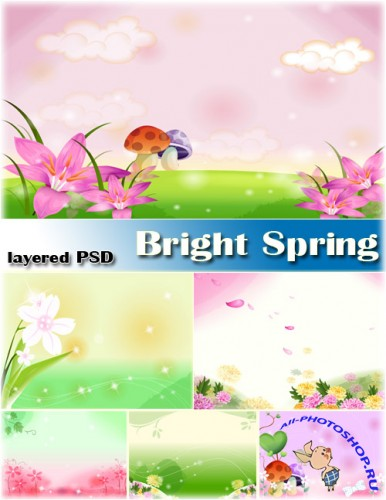 ����� ����� | Bright Sping (layered PSD)