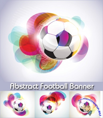 Abstract Football Banner - Stock Vectors