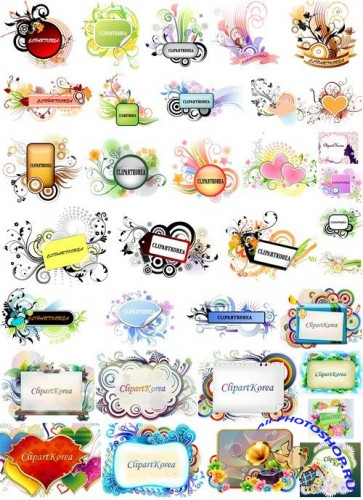 Clipart Korea Vector Pack