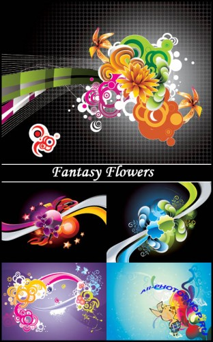 Fantasy Flowers - Stock Vectors
