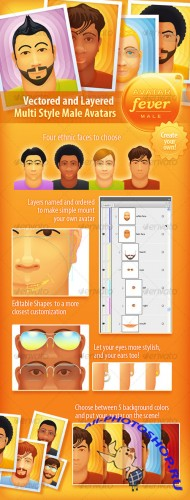 Graphicriver Avatar Fever - Male