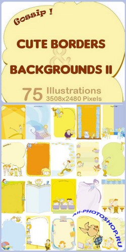 Фоны - Cute borders and backgrounds 2