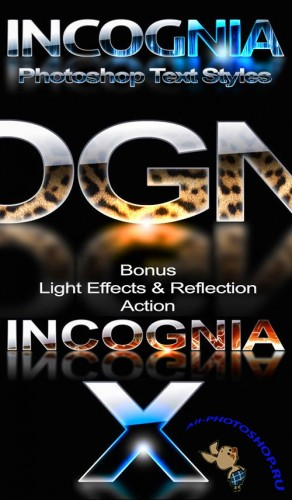Incognia professional styles for Photoshop