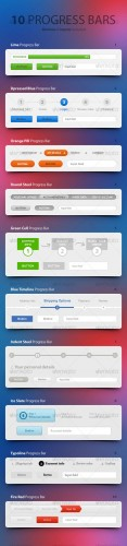 Progress Trackers - GraphicRiver