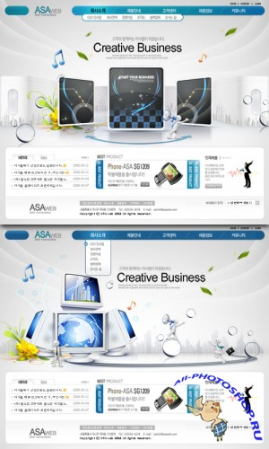 creative bussiness Korean Web Templates