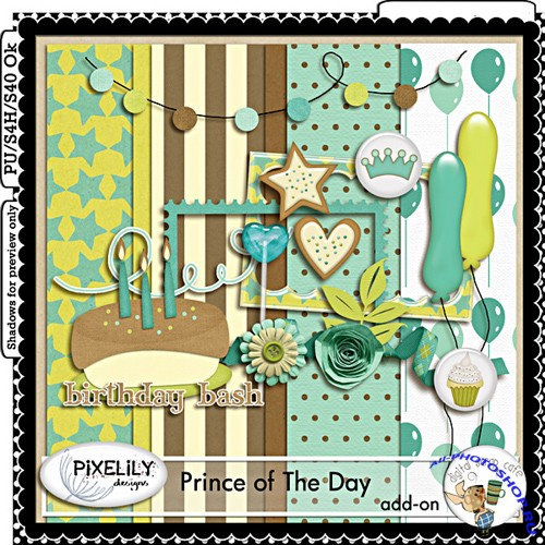 Scrap-set - Prince of the day