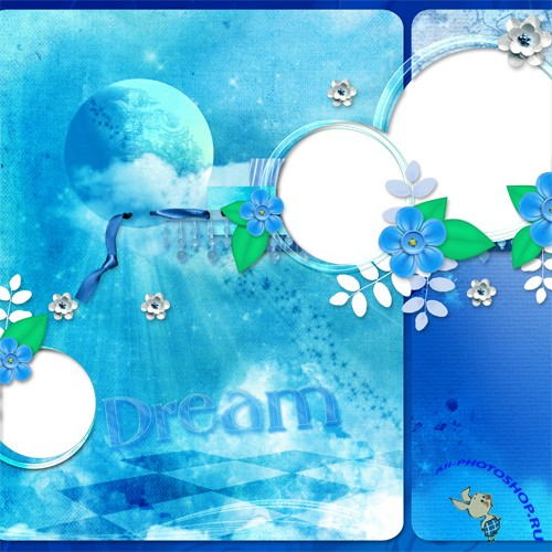 PNG Frames - Blue Dreams
