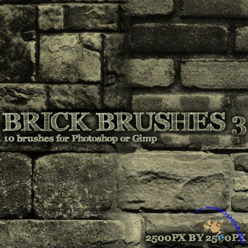 Brick Brush Pack for Photoshop or Gimp (Part 3)