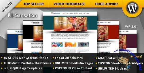 Sansation 1.5 – ThemeForest Business & Portfolio Premium WordPress Theme