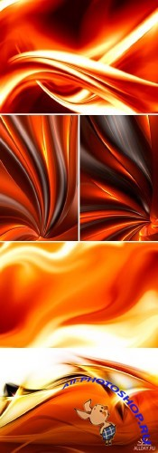 Stock Photo - Fire Abstract Backgrounds | Огненный фон