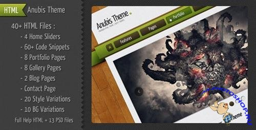 ThemeForest - Anubis Ultimate HTML Theme - Rip