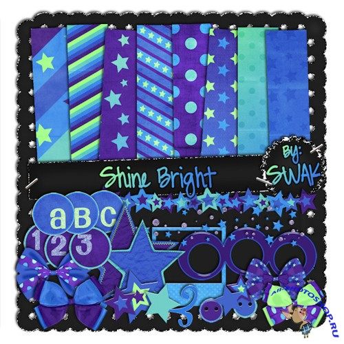 Scrap-set - Shine Bight