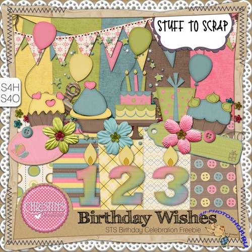 Scrap-set - Birthday Wishes