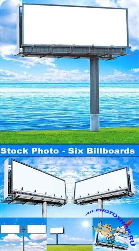 Stock Photo - Six Billboards