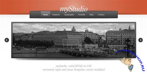 ThemeForest - myStudio Light HTML/CSS - Rip