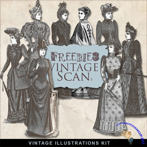 Scrap-kit - Vintage Victorian Fashions Illustrations