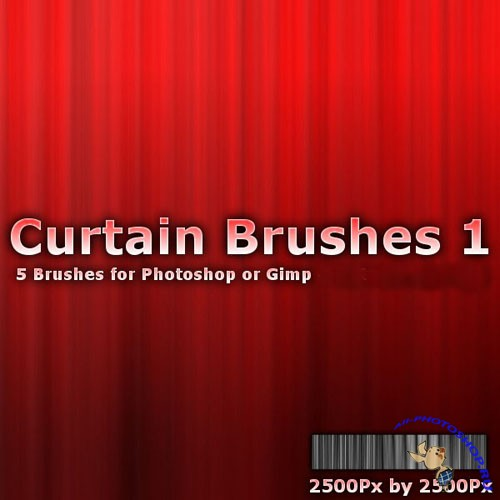 Curtains 1 Brush Pack for Photoshop or Gimp