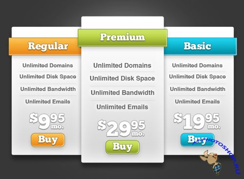 PSD Templates - Price Plan