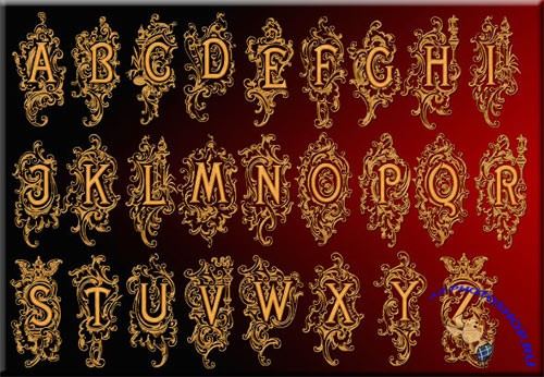 Royal Alphabet in a multilayer PSD file